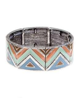 null (Multi Col) Geometric Stretch Bracelet  243707899  New Look