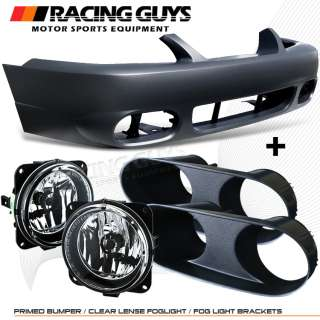 99 00 01 02 03 04 FORD MUSTANG COBRA STYLE FRONT BUMPER COVER+FOG