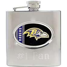 Great American Baltimore Ravens Stainless Steel Custom Flask