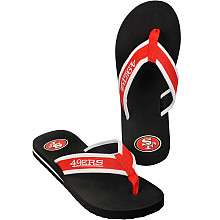 Mens San Francisco 49ers Contour Flip Flops