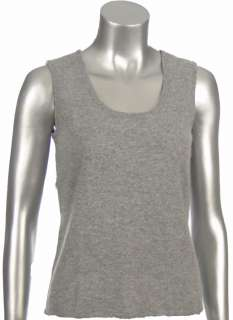 Sutton Studio Womens 100% Pure Cashmere Basic Shell Tank Top Petite