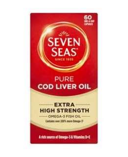 Seven Seas Extra High Strength Pure Cod Liver Oil   60 Capsules