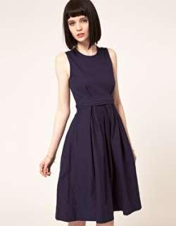 Imagen 1 de Vestido con falda de corte amplio y detalle de malla en la