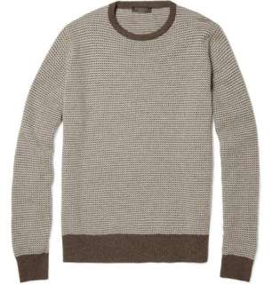 Knitwear  Crew necks  Merino Wool and Cashmere Blend Sweater