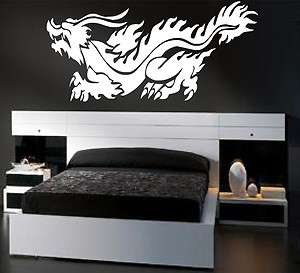 LARGE Oriental Dragon Vinyl Wall Decal *25 Colors*