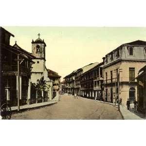 1910 Vintage Postcard Street Scene in Colon Panama Everything Else