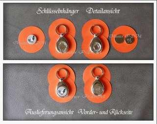 Schlüsselanhänger Metall +.EKW Chip + Button Ihrer Wahl