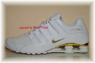 NIKE Shox NZ 378341 133 white weiß gold Gr 41 42 43 44 45 46 47 48 49
