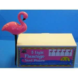 Pink Flamingo Yard Stakes set of 5