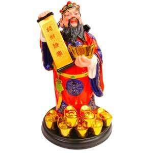 The God of Wealth (Color)   7.5 Feng Shui enhancer for