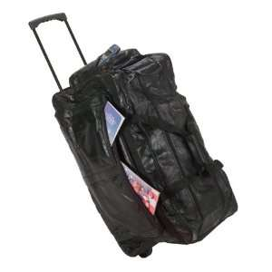28 Genuine Leather Rolling Duffle Bag
