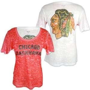 Chicago Blackhawks Ladies Sublimated Burnout Shirt