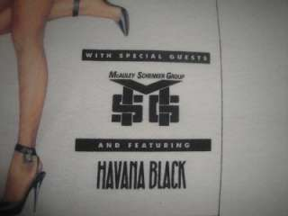 Vtg 1990 Tour Shirt MSG Havana Black Promo Capitol Records Polo
