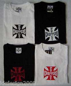 West Coast Choppers WCC T Shirt Original Iron Cross