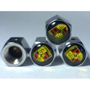 Porsche Anti theft Car Wheel Tire Valve Stem Caps