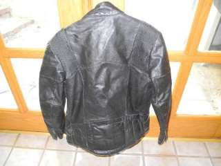 HONDALINE Hein Gericke CAFE RACER Black Leather MOTORCYCLE Jacket size