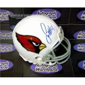 Autographed/Hand Signed Football Mini Helmet (Arizona Cardinals