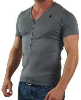 8173) G   Star Raw Herren Basic T Shirt anthrazit Neu