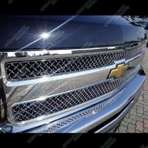 2007 2012 Chevy Silverado 1500 Stainless Steel Chrome X Mesh Grille