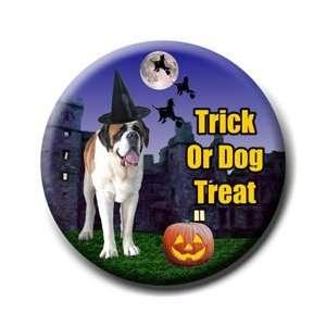 Saint Bernard Halloween Pin Badge Button