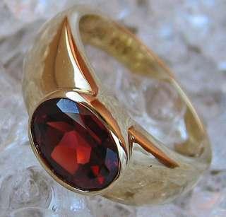 Goldringe 14kt 585 Gold Ring mit Granate Granat Schmuck Granatring