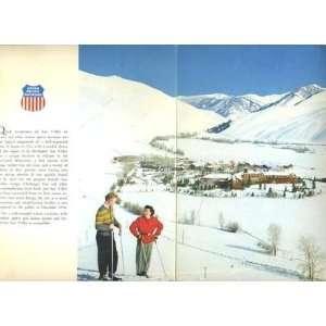 Sun Valley Lodge Menu Union Pacific Railroad 1950s