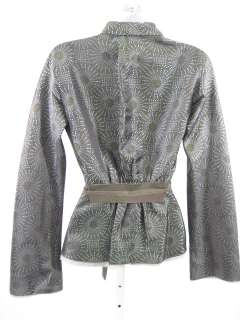 ROZAE NICHOLS Green Blue Polka Dot Blazer Jacket Size P