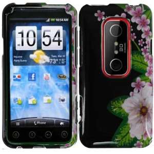 Green Leaf N Flowers Hard Case Cover Faceplate Protector for HTC EVO