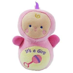 Its a Girl Bitsy Bundle Pink Plush Baby Rattle Toys & Games