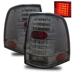 06 Ford Expedition Smoke LED Tail Lights + LED 3RD Brake Light Combo