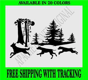 COYOTE Hunting DOGS HUNTING Vinyl Decal Deer 3243