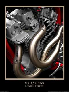 Harley Davidson XR 750 Engine 16x20 Print by Daniel Peirce