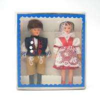CZECH SET TWO DOLLS IN FOLK COSTUMES LIDOVA TVORBA *