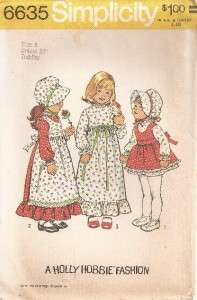 6635 Simplicity Pattern, Toddlers Holly Hobbie Dress