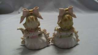 Vintage Bone China Lace Figurines Girls W/Instruments