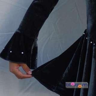 Black Velvet Ice Skating Dance Dress 12 14yrs GI035R