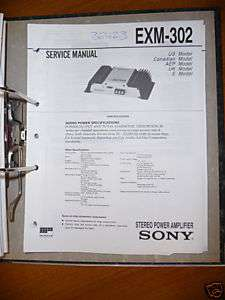 Service Manual für Sony EXM 302, Amplifier, ORIGINAL