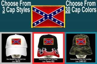 CONFEDERATE FLAG Baseball CAP 3Styles 30Colors Rebel 03