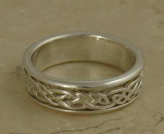 Irish Spinner/ Worry Sterling Silver Ring 925 Mens Ring Irish~Celtic