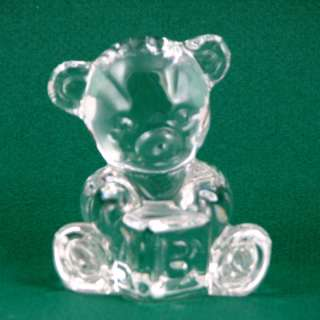 Waterford Crystal Teddy Bear with ABC Block Figurine