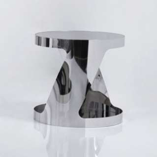 Modern Black Glass Top Chromed Metal Base End Table 931