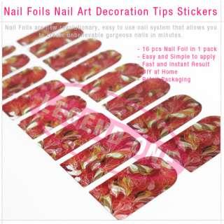 Flora Nail Foils Nail Art Decoration Tips Stickers