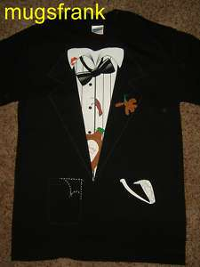 Best Man Black Tuxedo Outfit Costume T Shirt Nwt