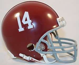 ALABAMA CRIMSON TIDE #14 MINI Replica Helmet (Riddell)