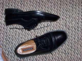mens florsheim black leather lace up shoes size 8 d
