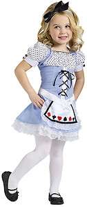 Alice Wonderland Blue Dress Child in Toddler Costume Cute Girls