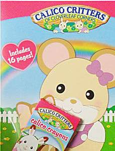Calico Critters Cloverleaf Coloring book w Crayons NEW