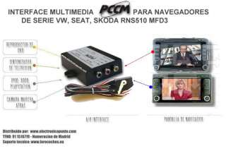 Interface Multimedia para navegadores RNS 510 / MFD3
