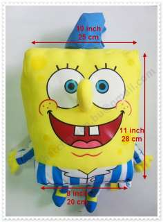 SpongeBob SquarePants 11 inch / 28 cm Plush Soft Cute Doll Big Toy New