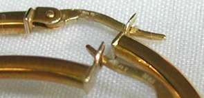 saks fifth ave ROBERTO COIN 18 kt yellow gold 1.75W HOOP EARRINGS no